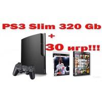 PS3 Slim 3008B 320Gb + 40 игр