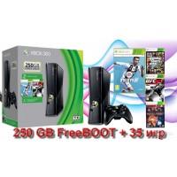 Xbox 360 Б/У FreeBOOT 250 GB fifa 19 + 35 игр